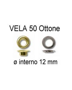 Occhielli VELA 50 in ottone con ranella