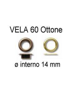Occhielli VELA 60 in ottone con ranella