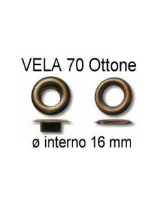 Occhielli VELA 70 in ottone con ranella