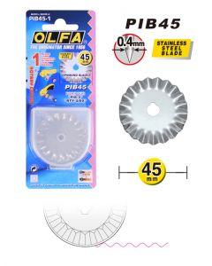 Lama OLFA ® Rotary taglio ondulato ø 45 mm art. PIB45