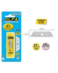 Lame OLFA Safety ® SKB-2S/10B - ciascuna confezione contiene 10 lame