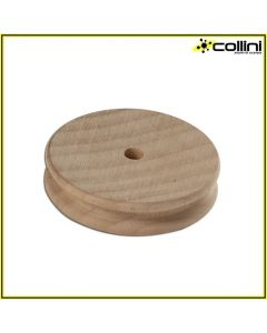Wooden edge slicker for leather