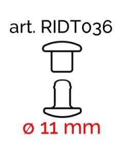 ø 11 mm iron double-head rivets art. 036