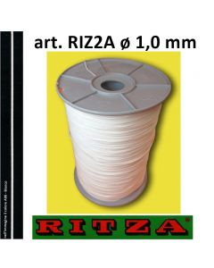 Filo atossico per braccialetti art. 2A ø 1,0 mm (rocchetto da 1.000 metri) in colore A00 - Bianco