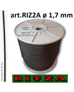 Filo atossico per braccialetti art. 2A ø 1,7 mm in colore A03 - Nero