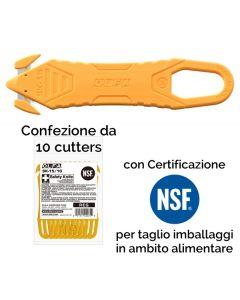 Confezione da 10 cutters OLFA antinfortunistico per taglio imballi mod. SK-15