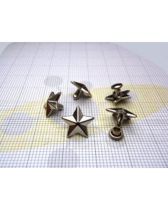 Small star shaped studs with rivet art. C/6352