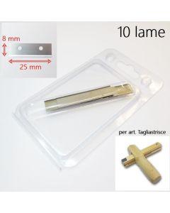 Tagliastrisce - 10 lame di ricambio in blister di plastica