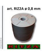 Filo atossico per braccialetti art. 2A ø 0,8 mm (rocchetto da 1.000 metri) in colore A03 - Nero