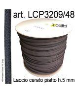 Piattina in cotone cerato h. 5 mm art. LCP3209/48 in colore 15 Grigio