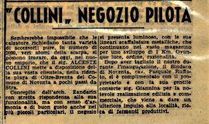 Articolo del GAZZETTINO pubblicato il 30 giugno 1959