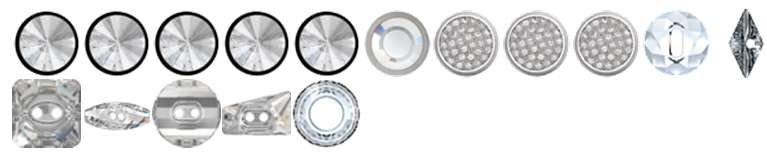 Swarovski ® Buttons & Fasteners