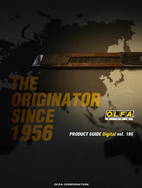 OLFA - Copertina Catalogo Cutters e Lame - Product Guide Digital vol. 195