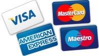 Carte di credito Visa, Mastercard, American Expresse e circuito Maestro